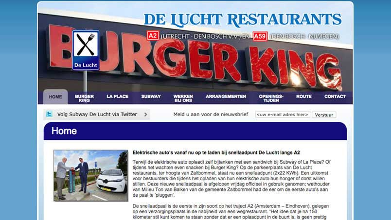 Website - De Lucht Restaurants, Bruchem
