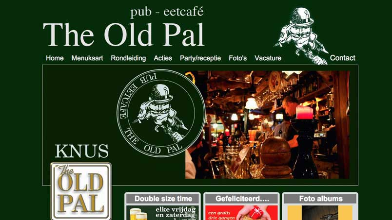 Website - The Old Pal, Zoetermeer