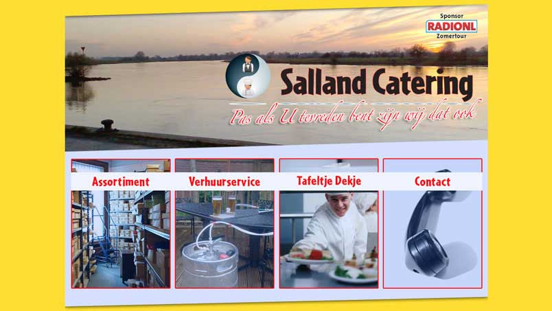 Website - Salland Catering, Wijhe